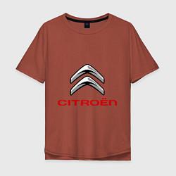 Футболка оверсайз мужская Citroen цвета кирпичный — фото 1