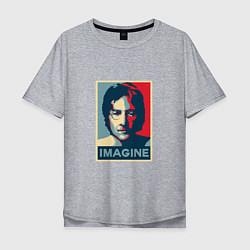 Футболка оверсайз мужская Lennon Imagine цвета меланж — фото 1