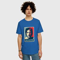 Футболка оверсайз мужская Lennon Imagine цвета синий — фото 2