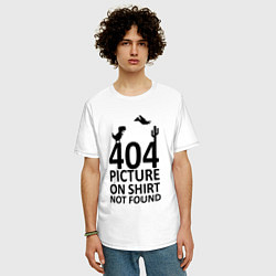Футболка оверсайз мужская 404 цвета белый — фото 2