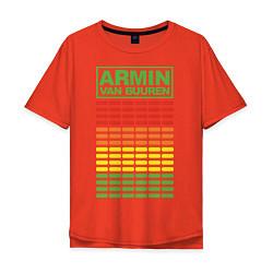 Футболка оверсайз мужская Armin van Buuren: EQ цвета рябиновый — фото 1