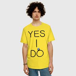 Футболка оверсайз мужская Yes I Do цвета желтый — фото 2