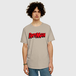 Футболка оверсайз мужская Ant-man цвета миндальный — фото 2