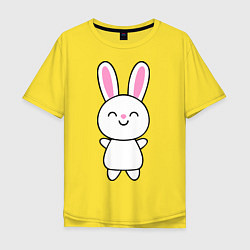Мужская удлиненная футболка с принтом Милый зачик, цвет: желтый, артикул: 10018701505753 — фото 1