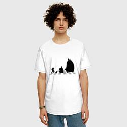 Футболка длинная мужская Totoro Beatles - фото 2