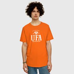 Футболка оверсайз мужская Уфа Born in Russia цвета оранжевый — фото 2
