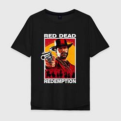 Футболка оверсайз мужская Red Dead Redemption 3d цвета черный — фото 1