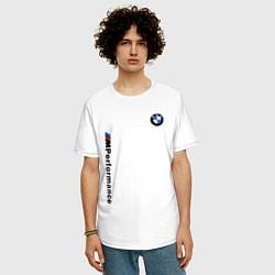 Футболка оверсайз мужская BMW M PERFORMANCE 2020 цвета белый — фото 2