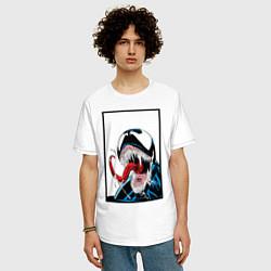 Футболка оверсайз мужская Venom цвета белый — фото 2