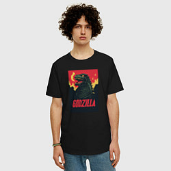 Футболка длинная мужская Godzilla - фото 2
