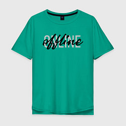 Футболка оверсайз мужская Offline цвета зеленый — фото 1