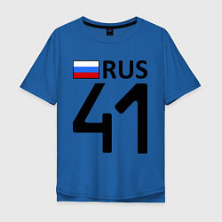 Футболка оверсайз мужская RUS 41 цвета синий — фото 1