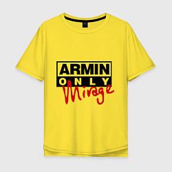 Мужская удлиненная футболка с принтом Armin Only: Mirage, цвет: желтый, артикул: 10036476305753 — фото 1