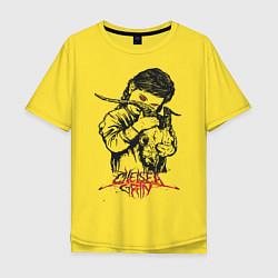 Футболка оверсайз мужская Chelsea Grin: Demon Girl цвета желтый — фото 1