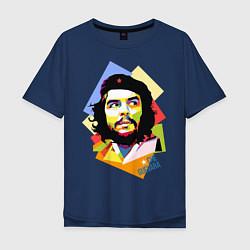 Футболка оверсайз мужская Che Guevara Art цвета тёмно-синий — фото 1