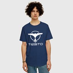 Футболка оверсайз мужская Tiesto цвета тёмно-синий — фото 2