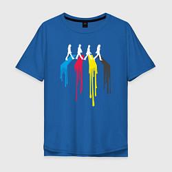 Футболка оверсайз мужская Abbey Road Colors цвета синий — фото 1