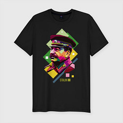Футболка slim-fit Stalin Art цвета черный — фото 1