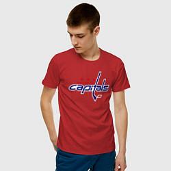 Футболка хлопковая мужская Washington Capitals цвета красный — фото 2