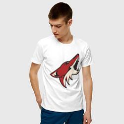 Футболка хлопковая мужская Phoenix Coyotes цвета белый — фото 2