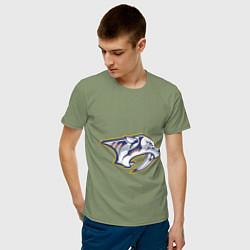 Футболка хлопковая мужская Nashville Predators - фото 2