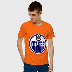 Футболка хлопковая мужская Edmonton Oilers цвета оранжевый — фото 2