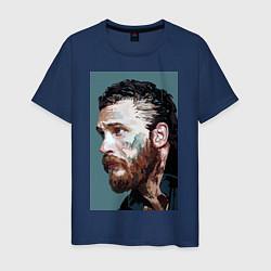 Футболка хлопковая мужская Том Харди Ван Гога цвета тёмно-синий — фото 1