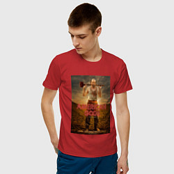 Футболка хлопковая мужская American Gods: Czernobog цвета красный — фото 2
