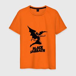 Футболка хлопковая мужская Black Sabbath цвета оранжевый — фото 1
