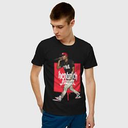 Футболка хлопковая мужская Kendrick Lamar цвета черный — фото 2