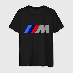 Футболка хлопковая мужская BMW M цвета черный — фото 1
