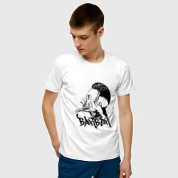 Футболка хлопковая мужская Black Barber цвета белый — фото 2