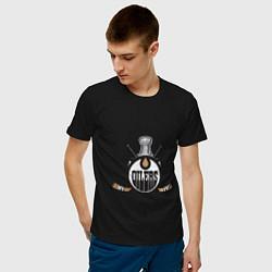 Футболка хлопковая мужская Edmonton Oilers Hockey цвета черный — фото 2