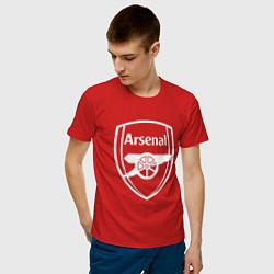 Футболка хлопковая мужская FC Arsenal цвета красный — фото 2