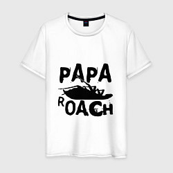 Футболка хлопковая мужская Papa Roach цвета белый — фото 1