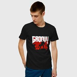 Футболка хлопковая мужская Evil Dead: Groovy цвета черный — фото 2