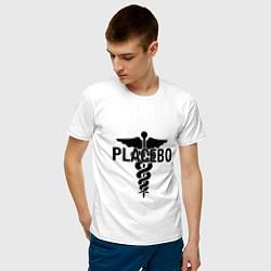 Футболка хлопковая мужская Placebo цвета белый — фото 2