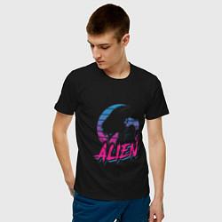 Футболка хлопковая мужская Alien: Retro Style цвета черный — фото 2