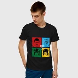 Футболка хлопковая мужская Queen Hot Space цвета черный — фото 2