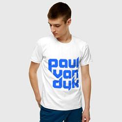 Футболка хлопковая мужская Paul van Dyk: Filled цвета белый — фото 2