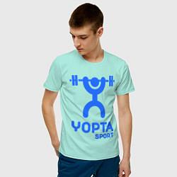 Футболка хлопковая мужская Yopta Sport цвета мятный — фото 2