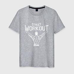 Футболка хлопковая мужская Stret WorkOut цвета меланж — фото 1