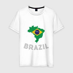 Футболка хлопковая мужская Brazil Country цвета белый — фото 1