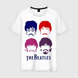 Футболка хлопковая мужская The Beatles faces цвета белый — фото 1