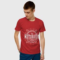 Мужская хлопковая футболка с принтом The Notorious King, цвет: красный, артикул: 10161412100001 — фото 2