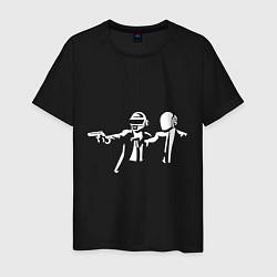 Футболка хлопковая мужская Daft Punk цвета черный — фото 1