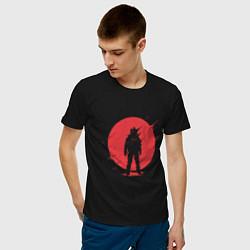 Футболка хлопковая мужская Sun Astronaut цвета черный — фото 2