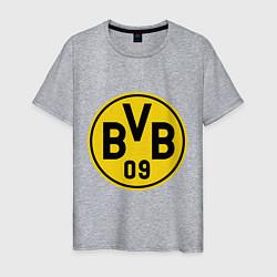 Футболка хлопковая мужская BVB 09 цвета меланж — фото 1