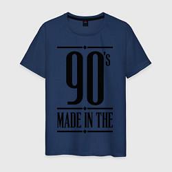 Футболка хлопковая мужская Made in the 90s цвета тёмно-синий — фото 1
