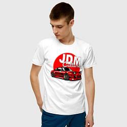 Футболка хлопковая мужская JDM Culture цвета белый — фото 2